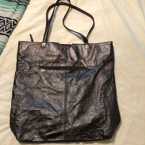 Wilson Leather Metallic and Lace Tote